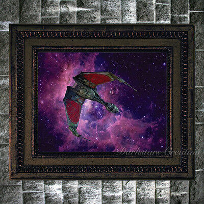 Klingon Bird Of Prey - Star Trek Fan Art Print - Darkstars Creation