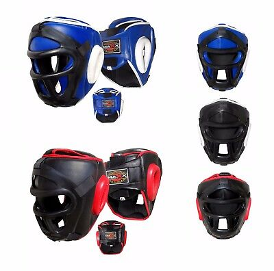 Maxx Head Guard with removable face Grill Boxing martial arts Boxing Protective