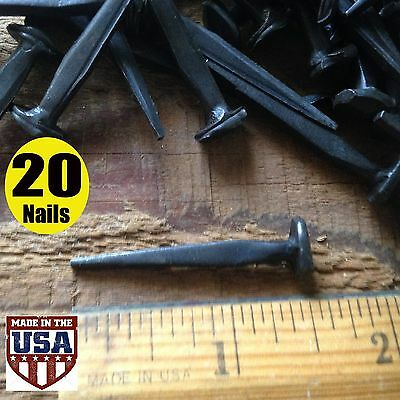 "1.5""- ROSE HEAD NAILS ~ Wrought Iron square rose head nails ~ Antique nails (20)"