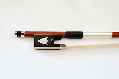 Vio Music 4/4 Violin Pernambuco Bow, Ebony Frog with Rare Pearl Inlay, Tourte