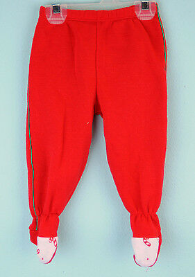 VTG Red babys first christmas holiday long pants Sz 6-9m