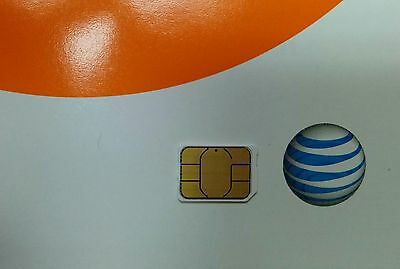 NEW UNACTIVATE, AT&T FACTORY NANO SIM LOOSE. 4G LTE simcard, IPHONE 5 & 6 PLUS