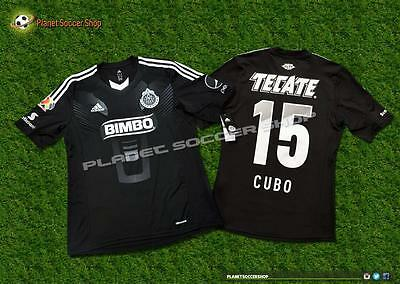 Oficial 2013 Chivas Guadalajara Adidas Away Player Issue Jersey Cubo Torres (S)