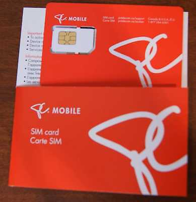 PC Mobile Canada Standard Mini-SIM CARD (New )