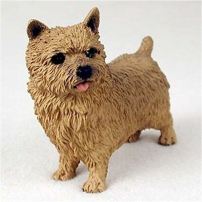 Realistic Elegant Hand Painted Norwich Terrier Cold Cast Resin Figurine