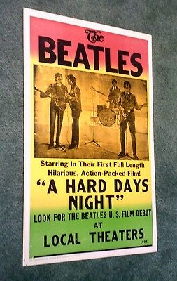 """The Beatles """"A Hard Days Night"""" Concert Poster 14 x 22 #105"""