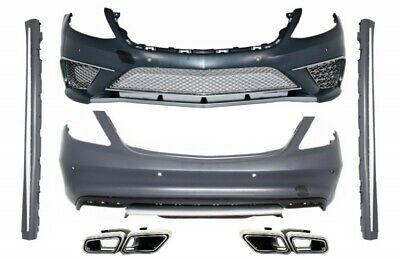 Bumper Side Skirts Exhaust Muffler Tips compatibile with: S-Class 13+ S63 Design