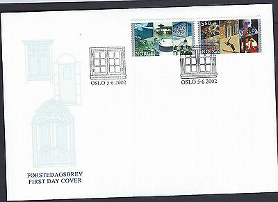Norway 2002 City Charter Anniv set on unaddressed official first day cover