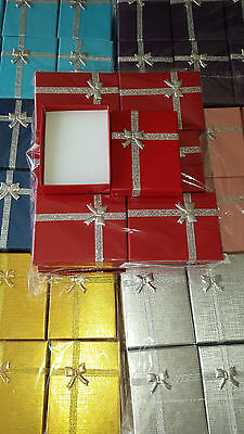 Joblot of 42 Small Jewellery Gift Boxes New Wholesale 9 x 7 x 2.5 cm lot A