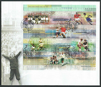 Norway 2002 Football mini sheet on unaddressed official first day cover