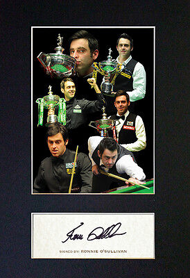 RONNIE OSULLIVAN Snooker Signed Mounted Autograph Photo Print (A4) No351