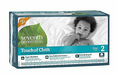 Seventh Generation Touch of Cloth Diapers, Size 2, 80 Count  BOX