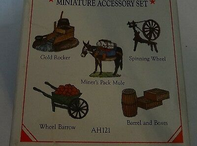 Liberty Falls Pewter Accessories~Miner's Mule~Christmas Western Village Figurine
