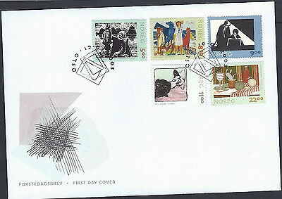 Norway 2003 Graphic Art set on unaddressed official first day cover