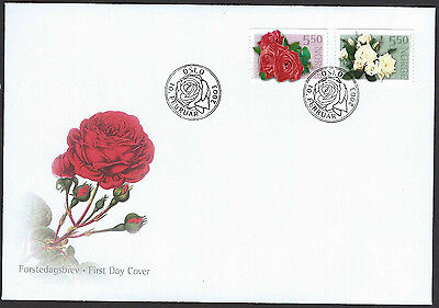 Norway 2003 Roses set on unaddressed official first day cover