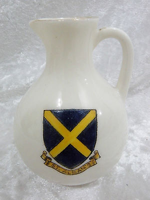 Wildblood Heath / Clifton China miniature Souvenir Jug - St. Albans vgc pre-1927