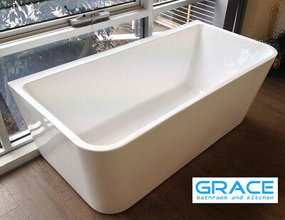 New 1600*800*580 Bath Tub Back to Wall Square Cube Freestanding