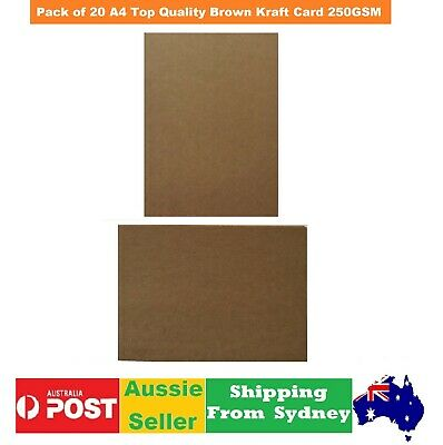 20xA4 Top Quality Brown Kraft  Card(Paper)  Natural wedding invitation 250GSM