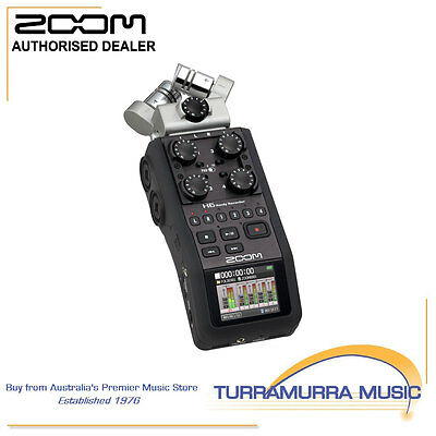 Zoom H6 Portable Professional Media Hand held Audio Recorder with Stereo Mic