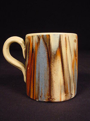 RARE 1800s SMALL MARBLED MOCHA MUG MOCHAWARE YELLOWWARE MINT