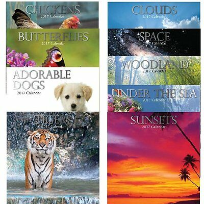 VERY High Quality 2017 Square Wall Calendars of ANIMALS AND THE NATURAL WORLD