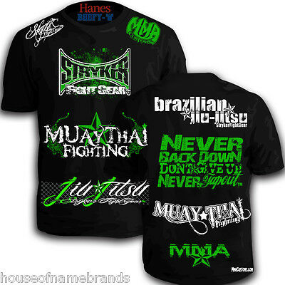 37668a7e Stryker Sponsored Shorts Sleeve MMA ufc boxing new y T-Shirt W FREE Tapout  decal