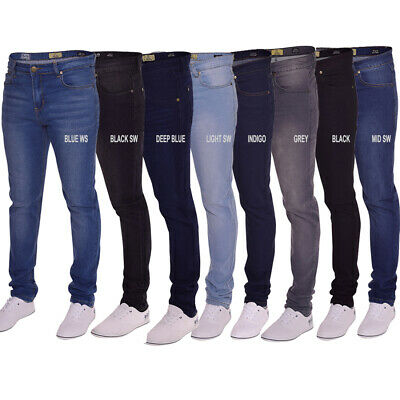 Mens Island Trading Skinny Stretch Slim Fit  Stretchable Denim Jeans Trousers