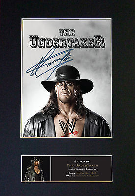 THE UNDERTAKER WWE Wrestler Signed Mounted Autograph Photo Print No481