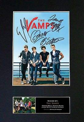 THE VAMPS Top Quality Signed Mounted Autograph Photo Print (A4) No469