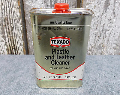 Vintage 1968 Texaco Plastic And Leather Cleaner 16 Fl Oz Can Unopened
