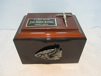 845 South Western Adult Funeral Memorial Cremation Urn - Free Plate & Text!