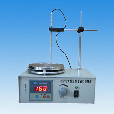 85-2 Magnetic Stirrer Mixer 2400RPM with Hot Plate 300W Heating @ 220V