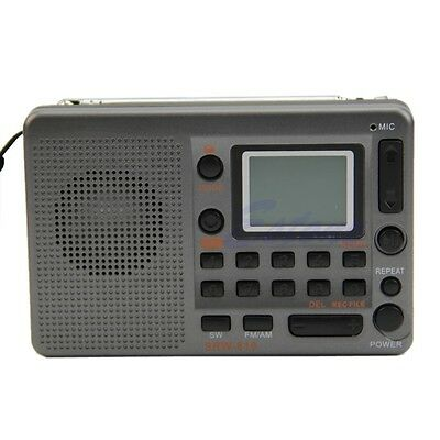 New Portable Digital Tuning LCD Receiver TF MP3 Player FM AM SW Full Band Radio