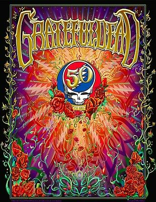 GRATEFUL DEAD 2015 50th Anniversary Poster GD50 Dubois NUMBERED SIGNED EDITION