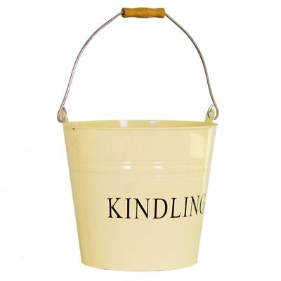 Kindling Bucket Cream Fire Coal Ash Log Wood Storage Basket Hod By Home Discount