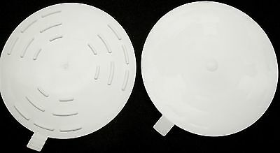 "LOT OF 2 FLAT 5"" DRAIN STOPPER SINK TUB SHOWER BASIN DRAIN STOP USA MADE - bulk2"