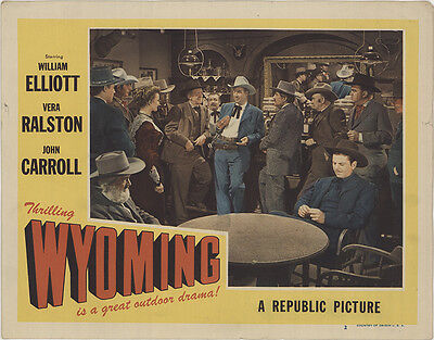 Wyoming 1947 Original Movie Poster Action Adventure History