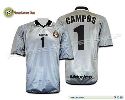 New Seleccion Mexicana Atletica Player Issue 2001 Mexico Jersey #1 Jorge Campos
