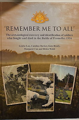 WW1 British Australian Remember Me To All Battle Of Fromelles Reference Book