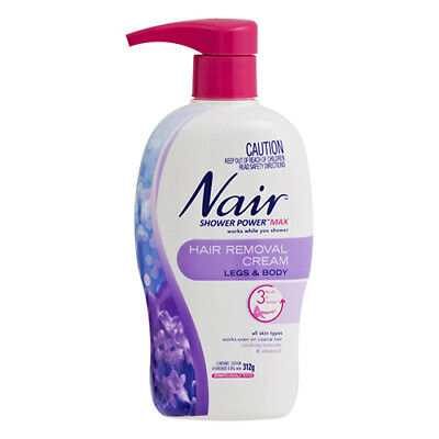 NEW Nair Hair Removal Cream Shower Power Max Legs And Body All Skin Types 312g
