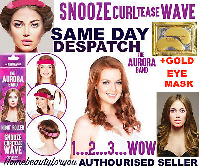 The Aurora Band Sleep In Night Roller Hair Band Curls Dragons Den +  Free Gift