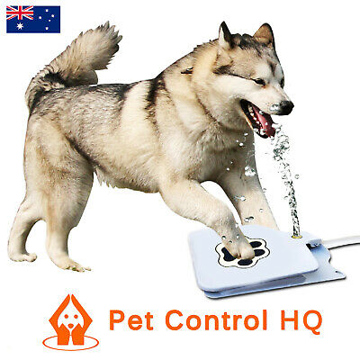 Dog Water Drinking Fountain Pet Dispenser Automatic Bowl Dish Step & Spray Auto