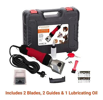 350W Electric Horse Clipper Dog Pet Hair Grooming Kit Comb Blade Animal Trimmer