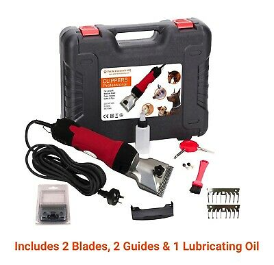 350W Electric Horse Clippers Grooming Shears Clipping Trimmers Shearing Blades