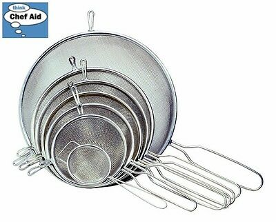 Chef Aid Stainless Steel Strainer 18Cm Diameter Tea Kitchen Accessory Home New
