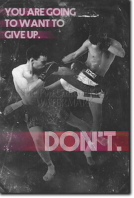 Muay Thai Motivational Photo Print 03 Motivation Quote Poster Mma Martial Arts