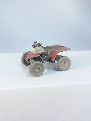 Arttista ATV Quad 4 Wheeler (Muddy/Weathered) - #1491 - O Scale On30 On3 - New