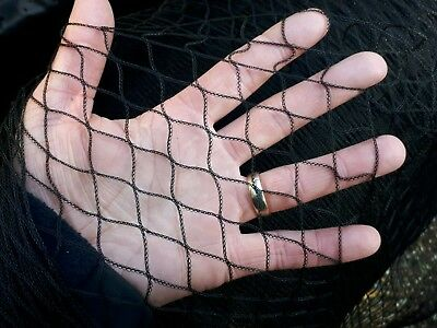 Pond Cover Netting Black 4M Wide Heron Bird Heavy Duty 25mm Quality Woven Mesh