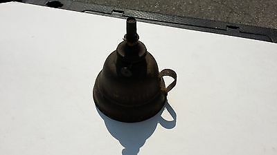Vintage MINIATURE Brass and Tin OIL LAMP Signed  PA June 28 1863