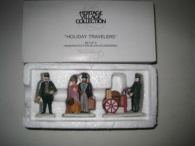 Dept 56 - Dickens Lot 3: Holiday Travelers-The Flying Scot Train-Victoria Platfo